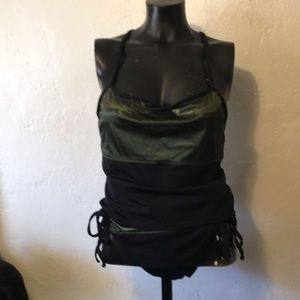 Ocean Gear Black and shimmering green swim suit